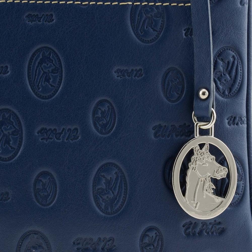 Bolso cartera azul marino Monogram El Potro
